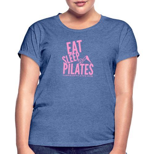 eat sleep pilates 2019 pink - Women's Oversize T-Shirt