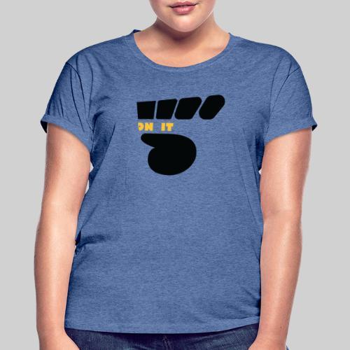 Logo 5 on It noir / jaune - T-shirt oversize Femme