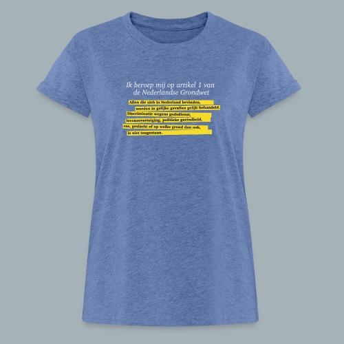 Nederlandse Grondwet T-Shirt - Artikel 1 - Vrouwen oversize T-shirt