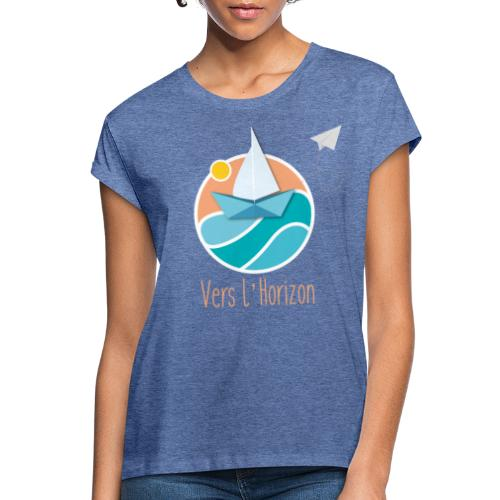 logo vers l'horizon - T-shirt oversize Femme