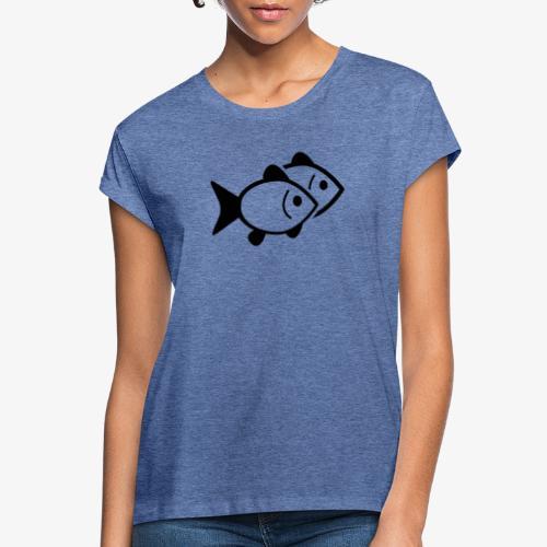 poissons - T-shirt oversize Femme