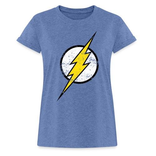 DC Comics Justice League Flash Logo - Frauen Oversize T-Shirt