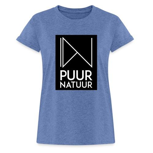 Logo puur natuur negatief - Vrouwen oversize T-shirt