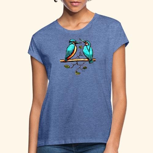Eisvogel Paar farbe - Frauen Oversize T-Shirt