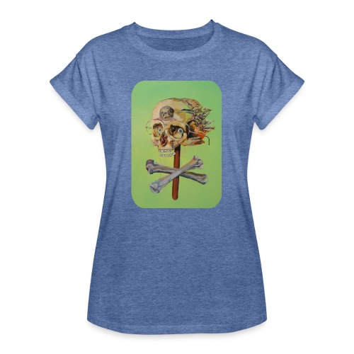 oil painting of skull and bones - Vrouwen oversize T-shirt