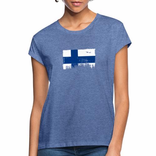 Suomen lippu, Finnish flag T-shirts 151 Products - Naisten oversized-t-paita