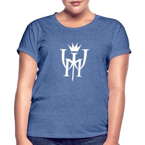 Logo MW białe - Koszulka damska oversize