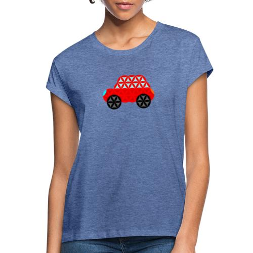 The Car Of Life - M01, Sacred Shapes, Red/R01. - Women's Oversize T-Shirt