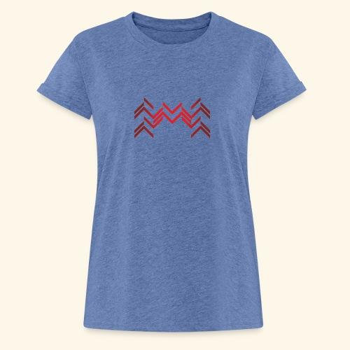 Lineas burdeos - Camiseta holgada de mujer