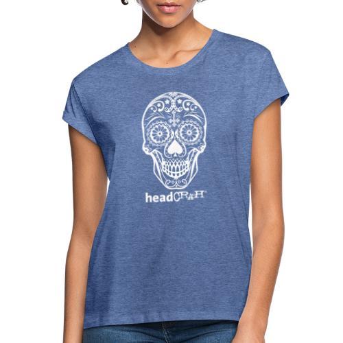 Skull & Logo white - Frauen Oversize T-Shirt