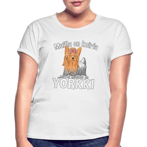 Yorkki Koiria - Naisten oversized-t-paita