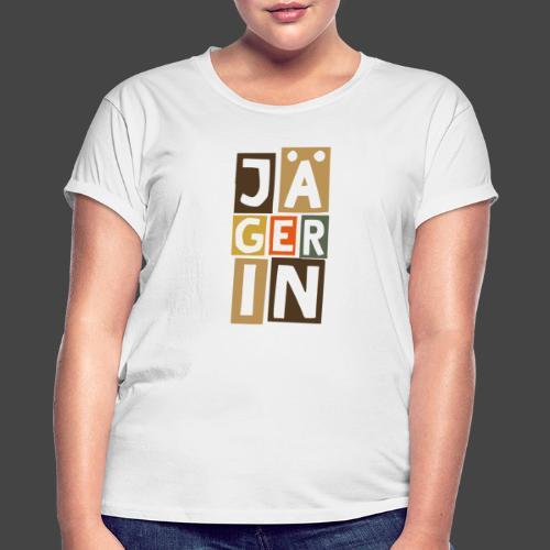 Die Jägerin in Blöcken - original Jägershirt - Frauen Oversize T-Shirt
