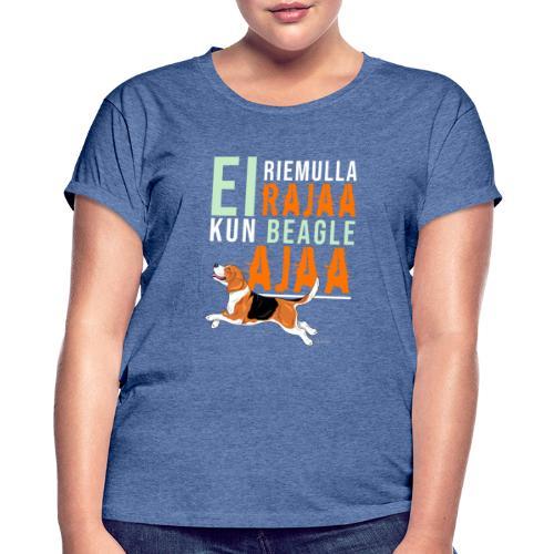 Riemulla Rajaa Beagle - Naisten oversized-t-paita