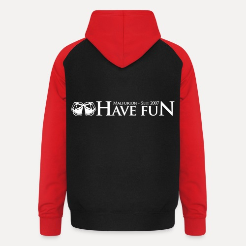Logo Have Fun Malfurion - Unisex Baseball Hoodie