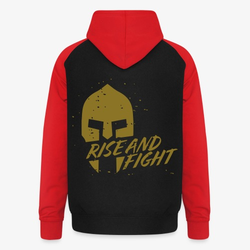 RISE AND FIGHT - Unisex Baseball Hoodie