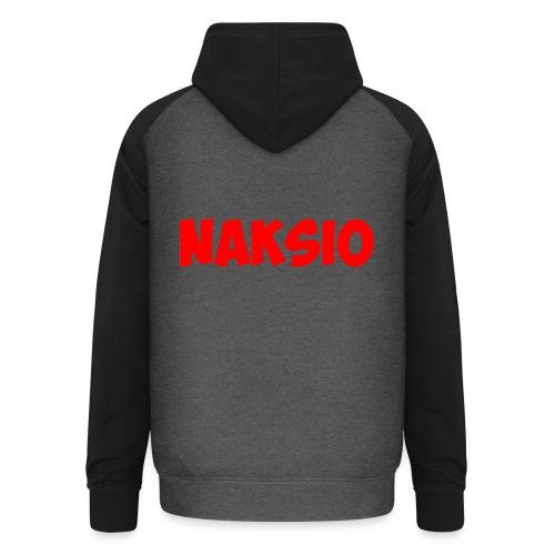 T-shirt NAKSIO - Sweat-shirt baseball unisexe
