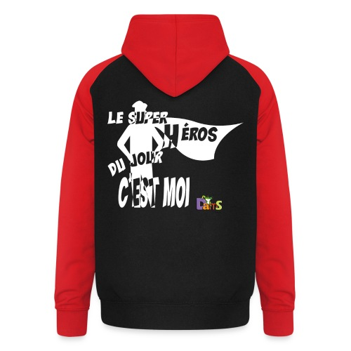 Anniversaire Super Heros (W) - Sweat-shirt baseball unisexe