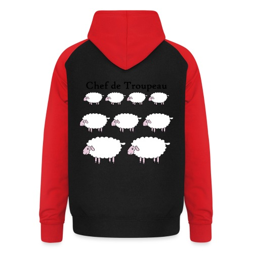 chef-de-troupeau - Sweat-shirt baseball unisexe