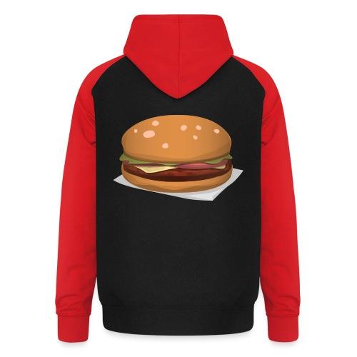 hamburger-576419 - Felpa da baseball con cappuccio unisex