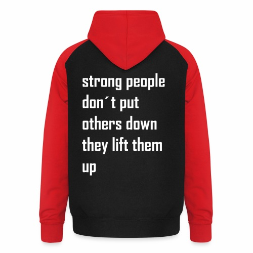 strong people - Unisex baseball hoodie