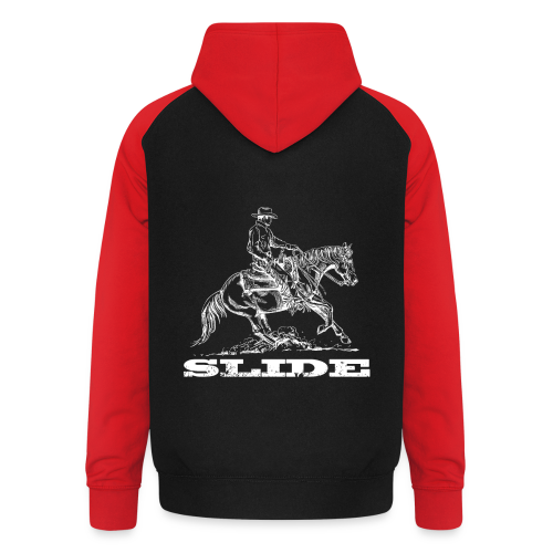 Sliding Stop Westernreiter Reining - Unisex Baseball Hoodie
