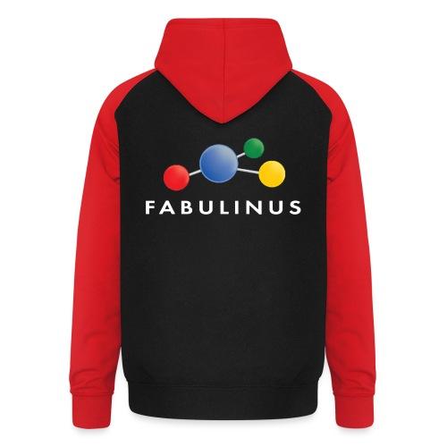 Fabulinus logo enkelzijdig - Unisex baseball hoodie