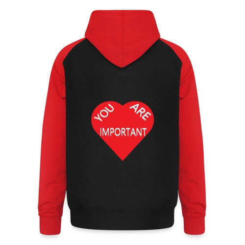 you are important - Unisex baseball hoodie