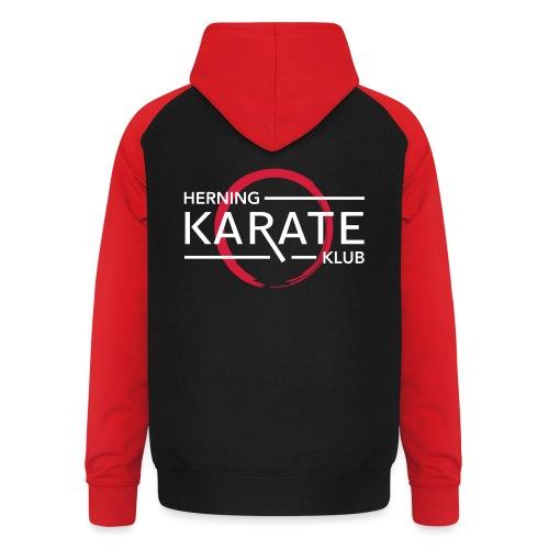 HKK Hvid - Unisex baseball hoodie