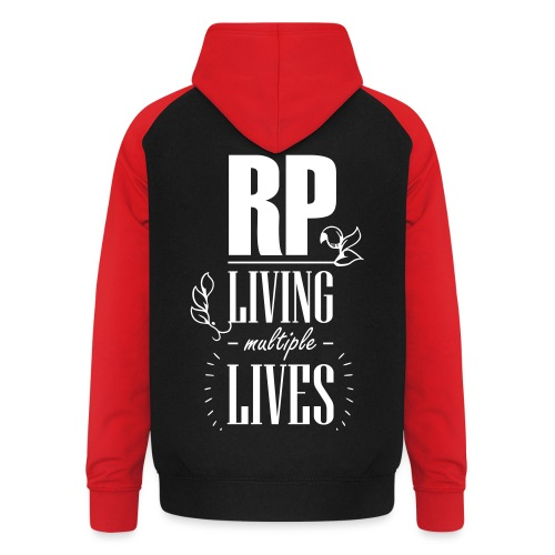 Role play - Living multiple lives - Unisex baseball hoodie