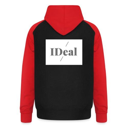 IDeal logga 2 - Basebolluvtröja unisex