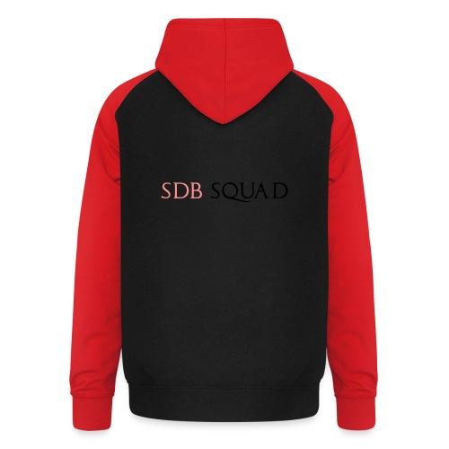 SDB SQUAD - Felpa da baseball con cappuccio unisex