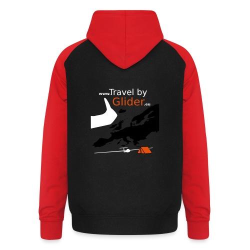 TravelByGlider_Shirt_Logo - Unisex Baseball Hoodie