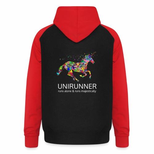 unirunner - alleen voor magische hardloopfans - Unisex baseball hoodie