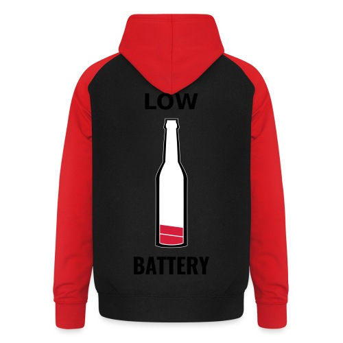 Beer Low Battery - Sweat-shirt baseball unisexe
