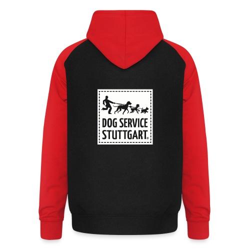 Dog Service Stuttgart weiß - Unisex Baseball Hoodie