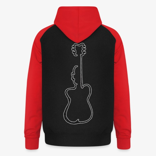 Guitar man - Bluza bejsbolowa typu unisex