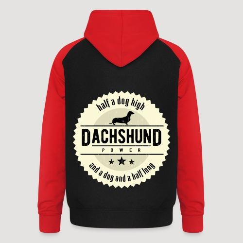 Dachshund Power - Unisex baseball hoodie