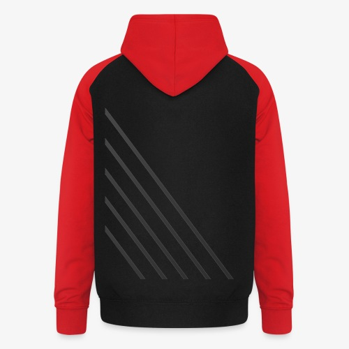 STRIPED - Unisex baseball hoodie