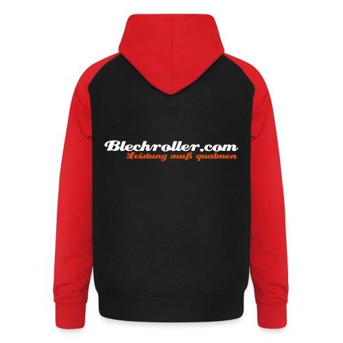 blechroller logo - Unisex Baseball Hoodie
