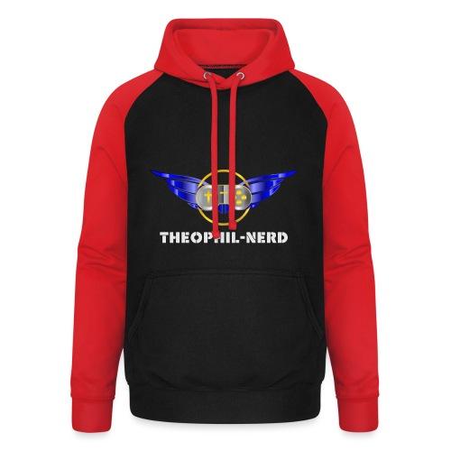Theophil-Nerd - Das neue Logo für Nerds - Unisex Baseball Hoodie