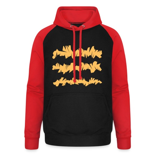 Orange_Sample.png - Unisex Baseball Hoodie