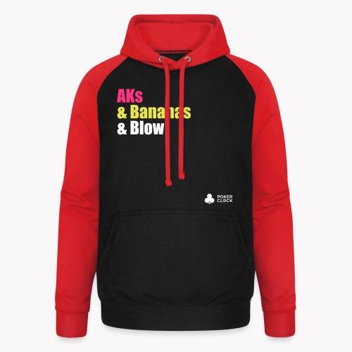 AKs & Bananas & Blow - Unisex Baseball Hoodie