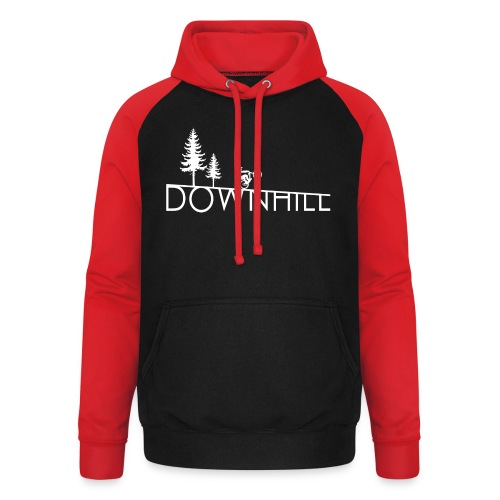 Downhill Whip it design - Unisex Baseball Hoodie