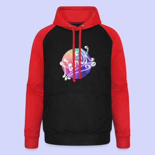 pastel rainbow, NuniDK Collection - Female top - Unisex baseball hoodie