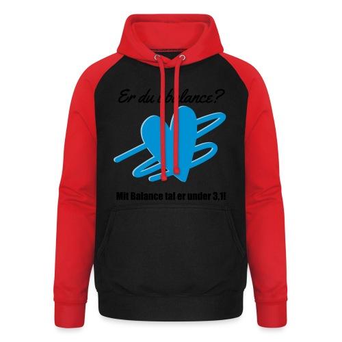 I Balance Design - Unisex baseball hoodie