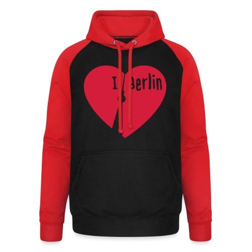 I love Berlin (1-farbig) - Unisex Baseball Hoodie