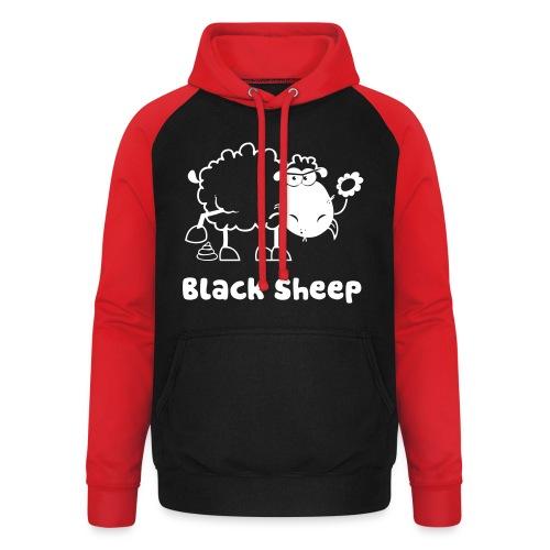 Schwarzes Schaf, Black Sheep - Unisex Baseball Hoodie