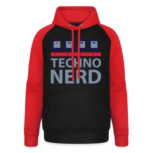 Techno Nerd - Unisex Baseball Hoodie