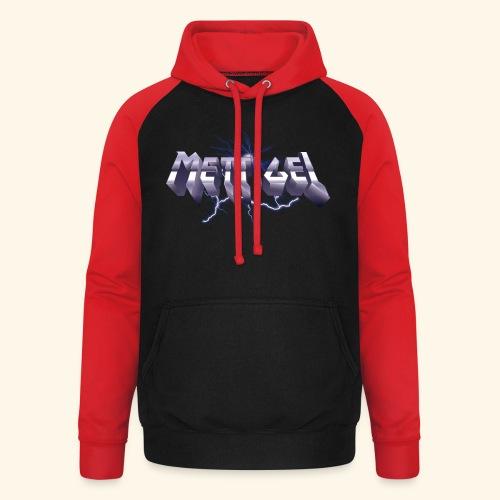 Mettigel T Shirt Design Heavy Metal Schriftzug - Unisex Baseball Hoodie