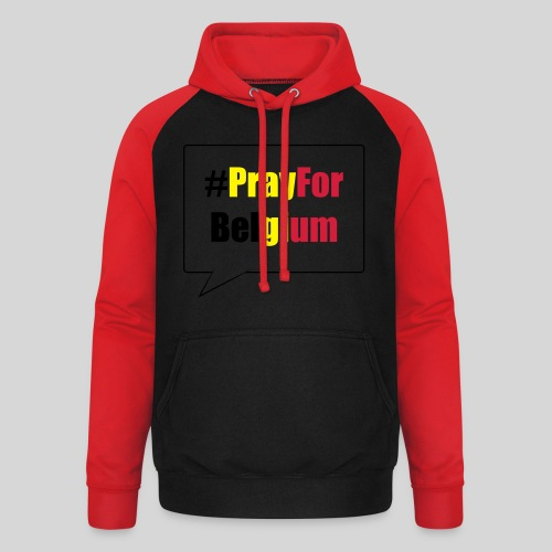 #PrayForBelgium - Sweat-shirt baseball unisexe